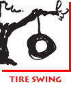 Waitsel Ink Illustration Tire Swing