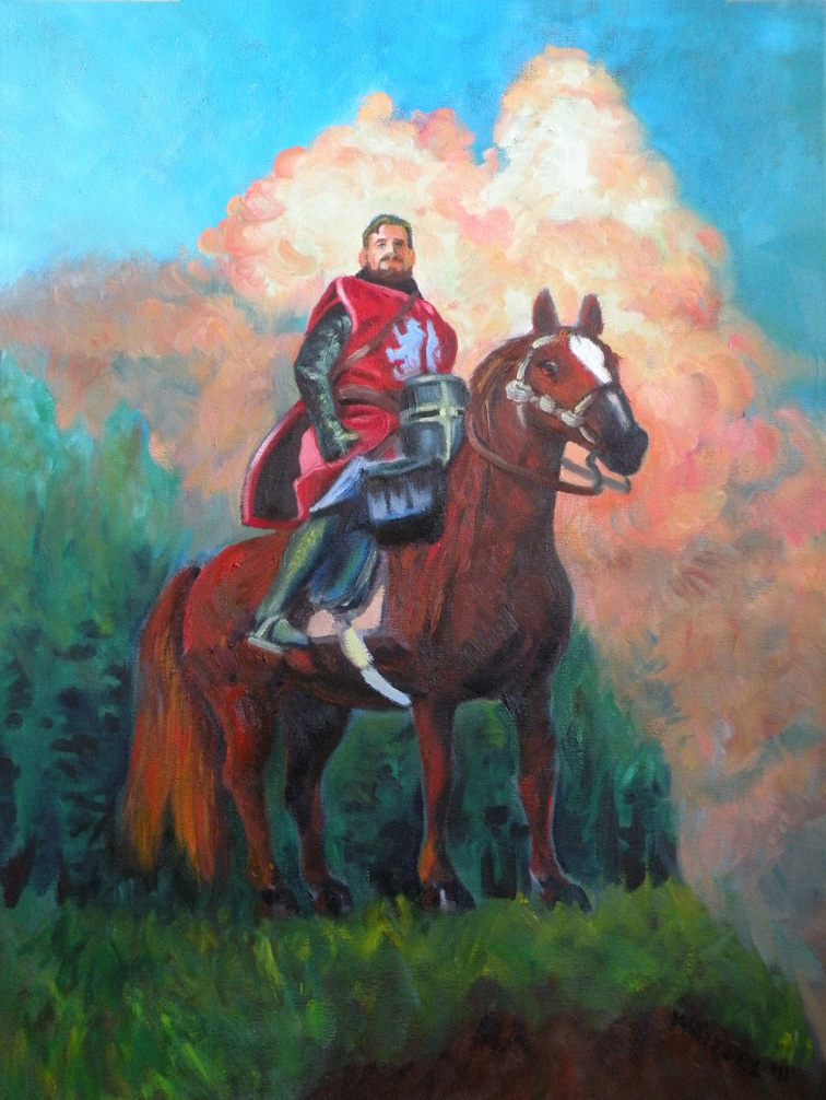 oil paintings of knights