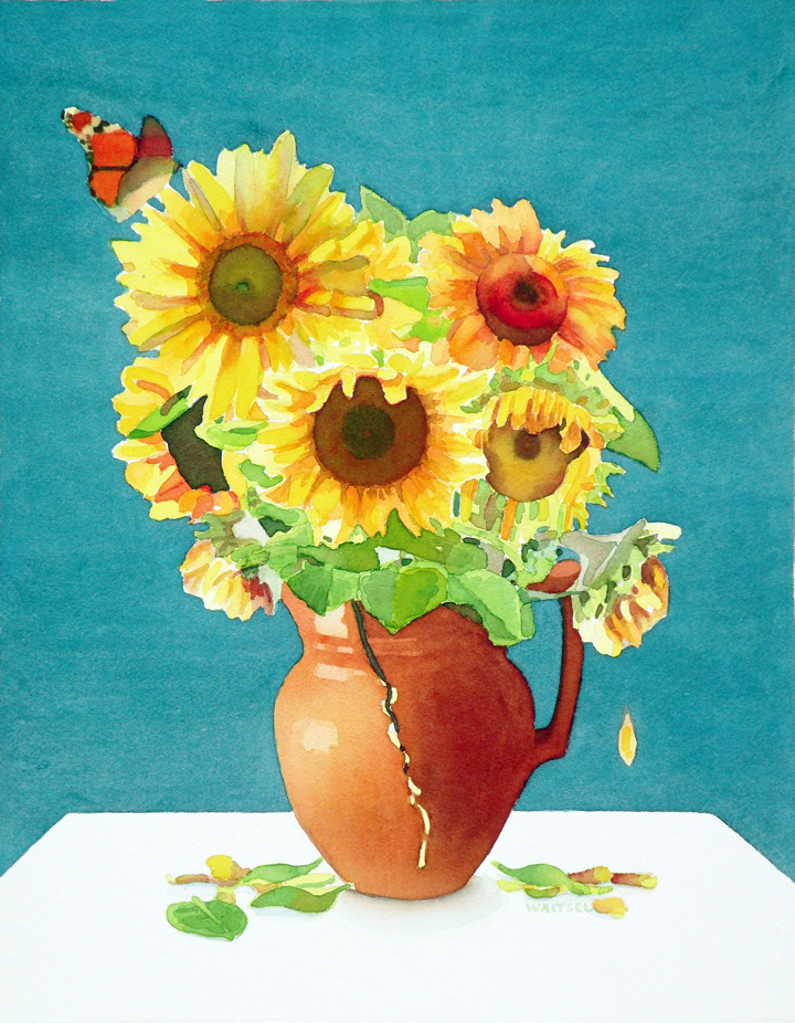 Waitsel's Watercolor Painting - Sunflowers