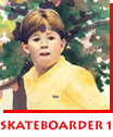 Waitsel Watercolour Kid's Portrait Skateboarder 1