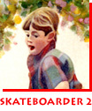 Waitsel Watercolour Kid's Portrait Skateboarder 2